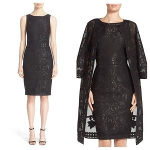 NWT St. John Collection Black Guilded Mesh Dress